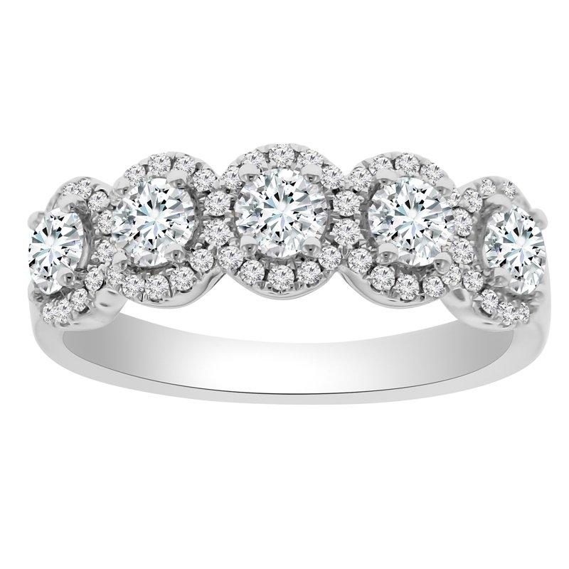 1 1/8ct tw NewBorn Lab Created Diamond Fashion Ring in 14K White Gold