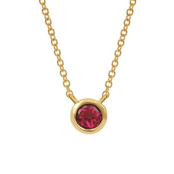 July Birthstone Necklace in 10K Yellow Gold