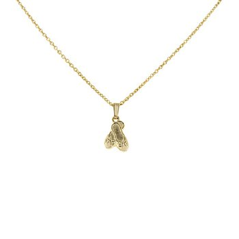 Children's Ballet Slipper Necklace in 14K Yellow Gold Filled