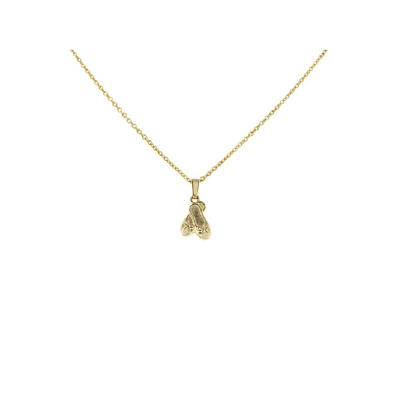 Children's Ballet Slipper Necklace in 14K Yellow Gold Filled