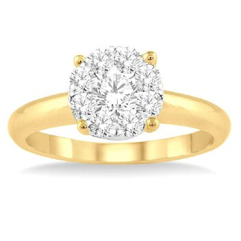 1/8ct tw Diamond Thousand Points of Light in 14K White & Yellow Gold