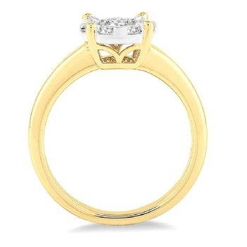 1/8ct tw Diamond Thousand Points of Light in 14K White & Yellow Gold