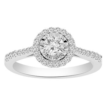 1/2ct tw Diamond Simply Love Collection Fashion Ring in 14K White Gold