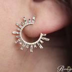 3/4ct tw Diamond Celestial Earrings in 14K Yellow Gold