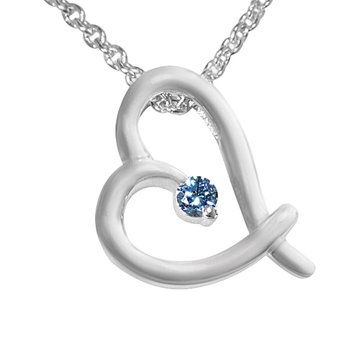 1/20ct Diamond Heart Necklace in Sterling Silver