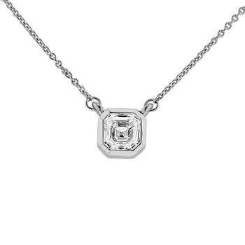 1/2ct tw Diamond East-West Solitaire Necklace in 14K White Gold