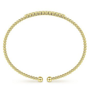 1/8ct tw Diamond Bujukan Bangle Bracelet in 14K Yellow Gold