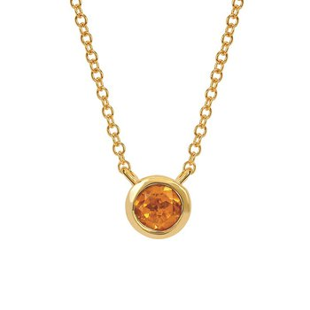 November Birthstone Necklace in 10K Yellow Gold