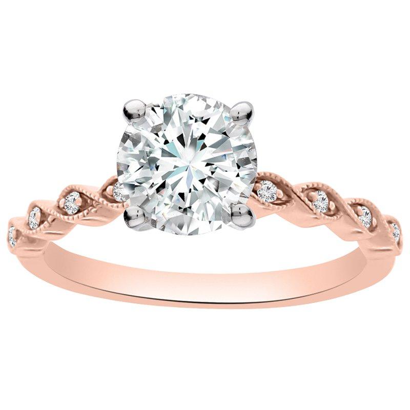 .05ct tw Diamond Engagement Ring Settingin 14K Rose Gold