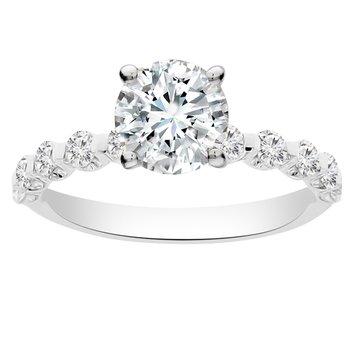 1/2ct tw Diamond Engagement Ring Setting in 18K White Gold