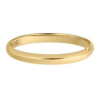 Bangle Bracelet in Gold Filled 14K Yellow Gold