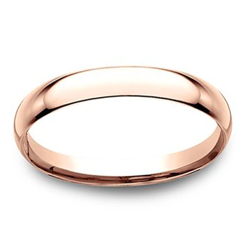 2mm Wedding Ring in 14K Rose Gold