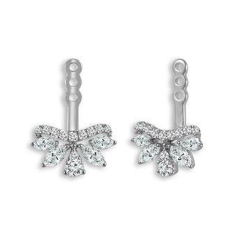 3/4ct tw Diamond Earring Jackets in 14K White Gold