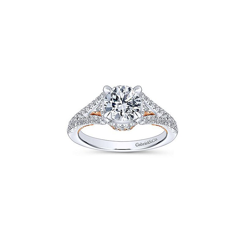 1 3/4ct tw Diamond Engagement Ring in 14K White & Rose Gold