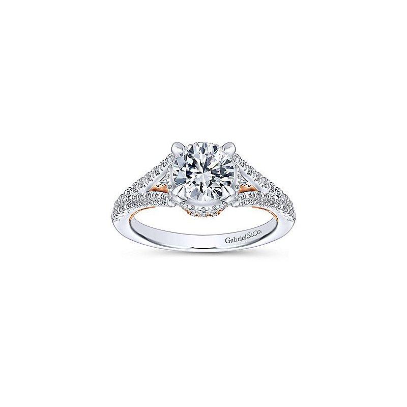 1 3/4ct tw Diamond Engagement Ring in 14K White & Rose Gold