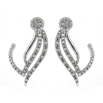 1/4ct tw Diamond Thousand Points of Light Earrings in 14K White Gold