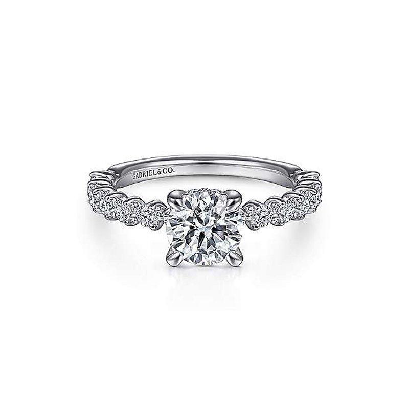 1/2ct tw Diamond Engagement Ring Setting in 14K White Gold