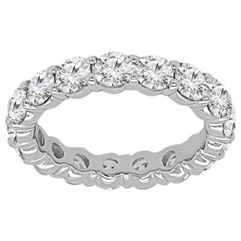 3 1/4ct tw NewBorn Lab Created Diamond Eternity Ring in 14K White Gold