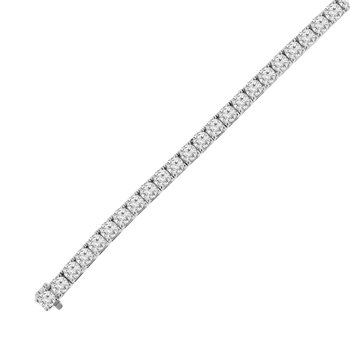 16 3/4ct tw NewBorn Lab Created Diamond Tennis Bracelet in 14K White Gold