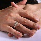 8mm Wedding Ring in 14K Rose Gold & White Gold