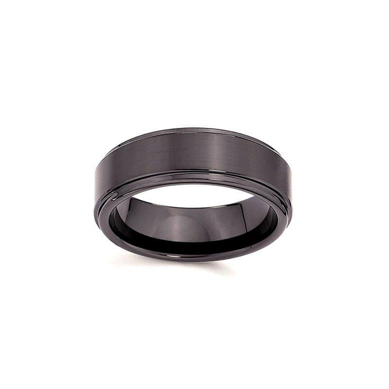 7mm Wedding Ring in Black Ceramic