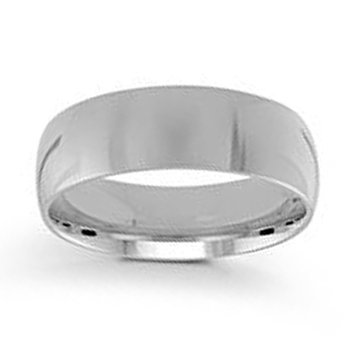 7mm Wedding Ring in 14K White Gold