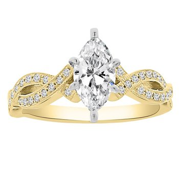 1ct tw Diamond Engagment Ring in 14K Yellow Gold