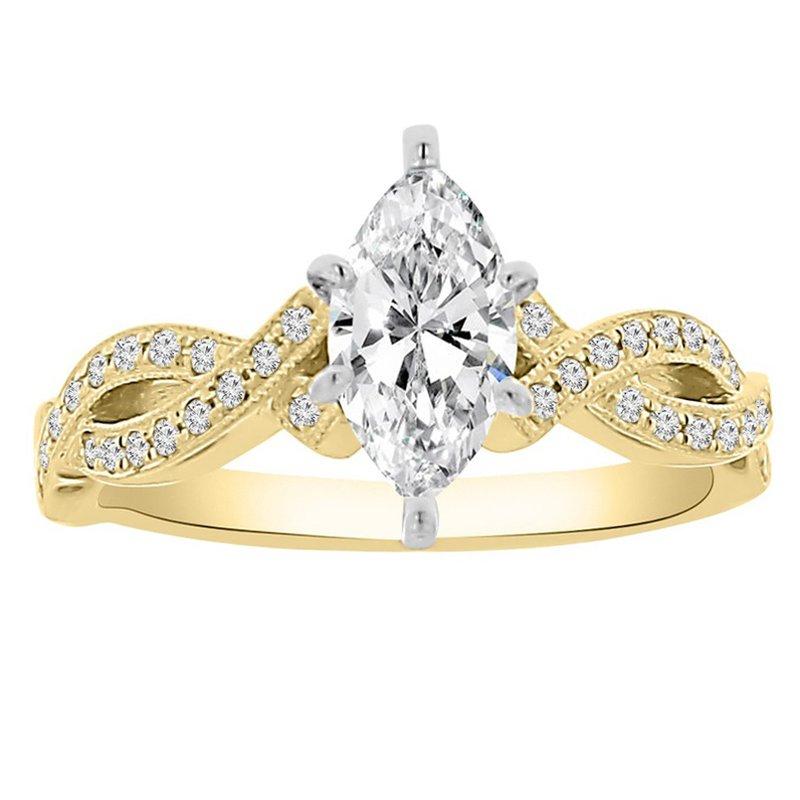 1ct tw Diamond Engagment Ring in 14K Yellow Gold