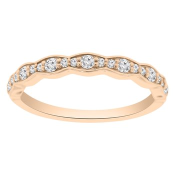 1/4ct tw NewBorn Lab Created Diamond Wedding Ring in 14K Rose Gold