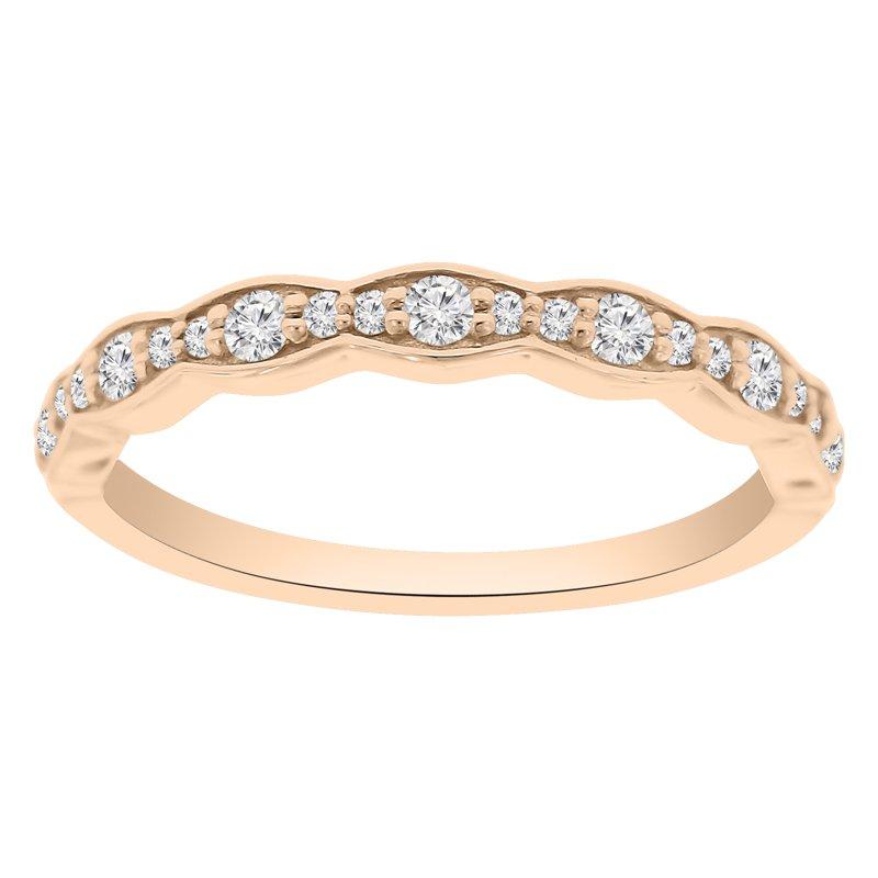 1/4ct tw NewBorn Lab Created Diamond Wedding Ring in 14K Rose Gold