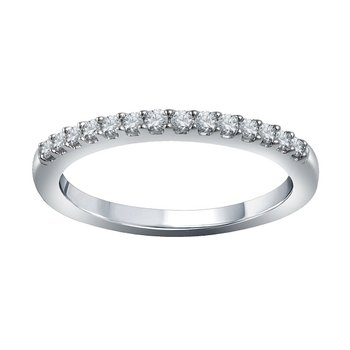 1/5ct tw Diamond WOW Wedding Ring in 14K White Gold