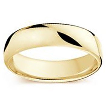 6.5mm Wedding Ring in 14K Yellow Gold