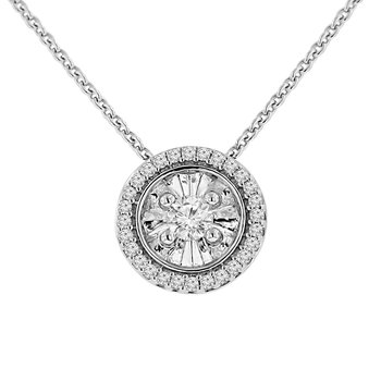 1/4ct tw Diamond Simply Love Collection Necklace in Sterling Silver