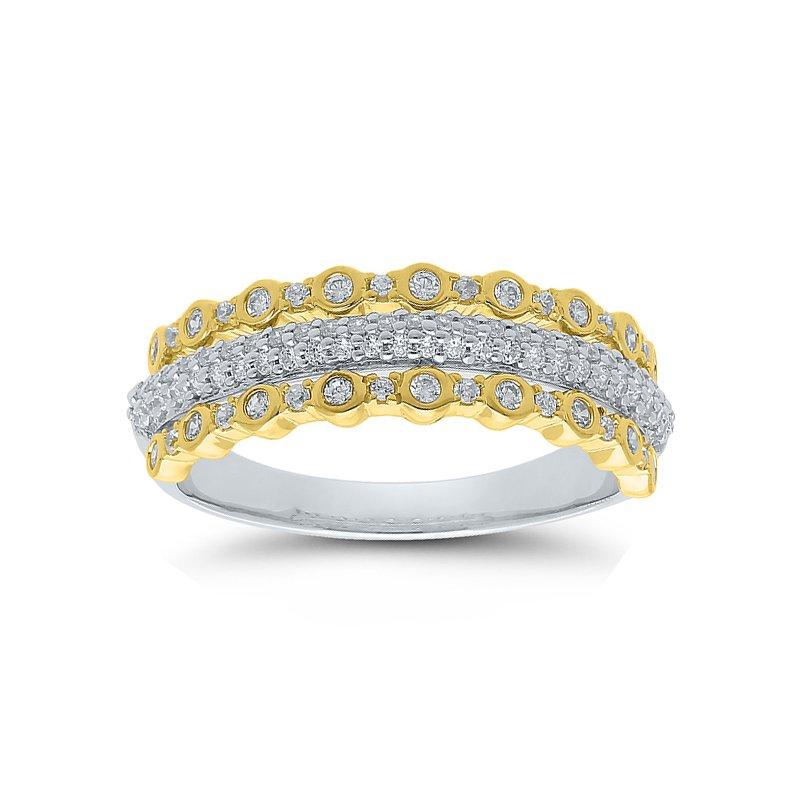 3/8ct tw Diamond Fashion Ring in 10K White & Yellow Gold