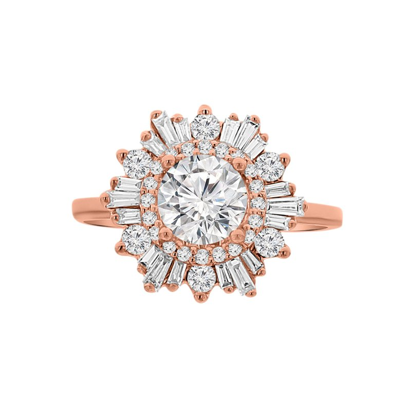 1 7/8ct tw Diamond Halo Engagement Ring in 14K Rose Gold