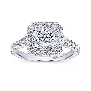 1 5/8ct tw Diamond Halo Engagement Ring in 14K White Gold