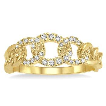 1/8ct tw Diamond Fashion Ring in 14K Yellow Gold