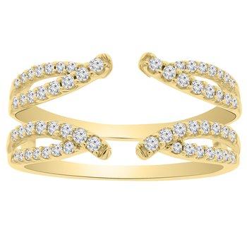 3/8ct tw Diamond Wedding Ring Guard in 14K Yellow Gold