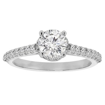 7/8ct tw Diamond Engagement Ring in Platinum