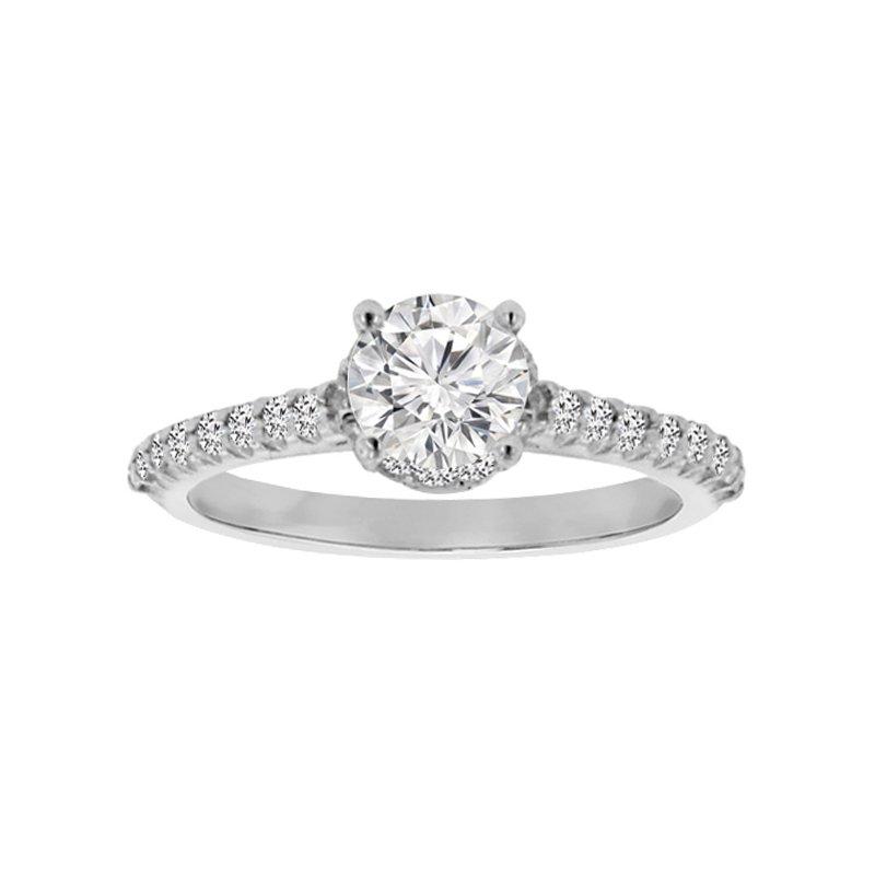 7/8ct tw Diamond Engagement Ring in Platinum