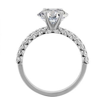 1/3ct tw NewBorn Lab Created Diamond Engagement Ring Setting in 14K White Gold