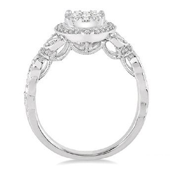 5/8ct tw Diamond Thousand Points of Light Engagement Ring in 14K White Gold