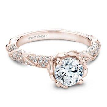 2 1/4ct tw NewBorn Diamond Engagement Ring in 14K Rose Gold