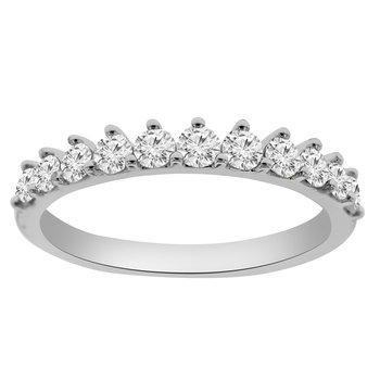 5/8ct tw Diamond Wedding Ring in 14K White Gold