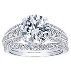 2 5/8ct tw Diamond Halo Engagement Ring in 18K White Gold