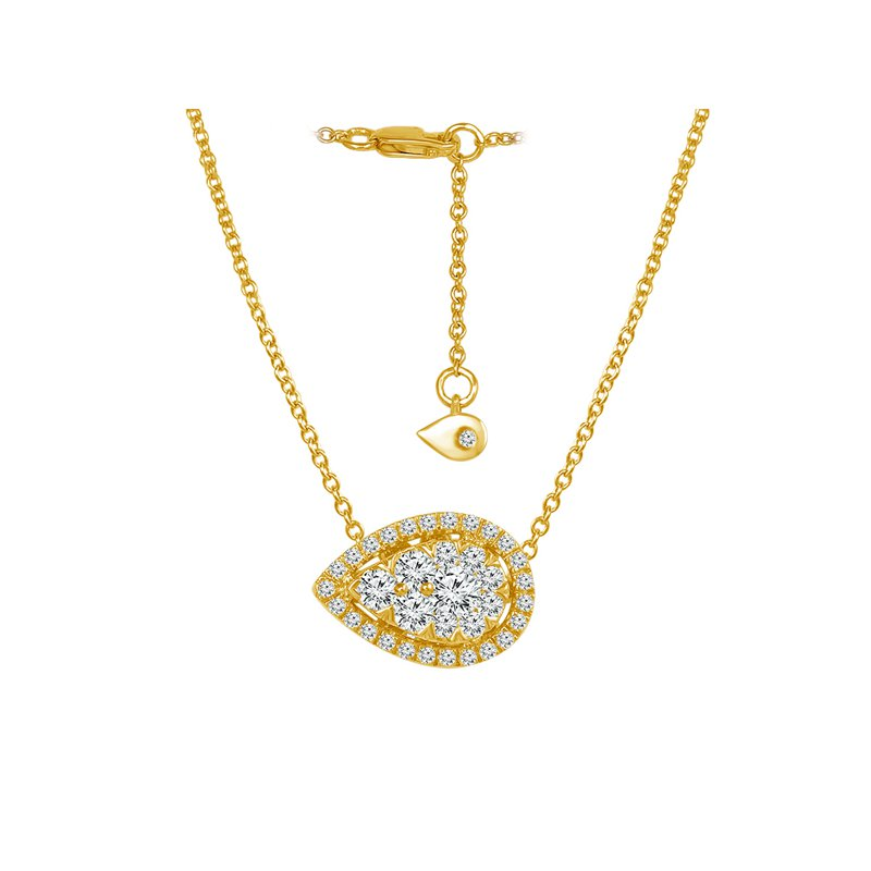 1/2ct tw Diamond Thousand Points of Light Necklace in 14K Yellow Gold