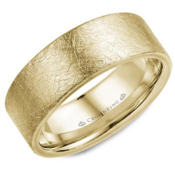 8mm Wedding Ring in 14K Yellow Gold