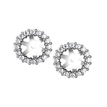 1/3ct tw NewBorn Lab Created Diamond Earring Jackets in 14K White Gold