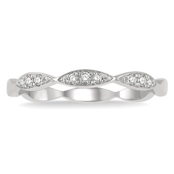 1/14ct tw Diamond Stackable Ring in 14K White Gold