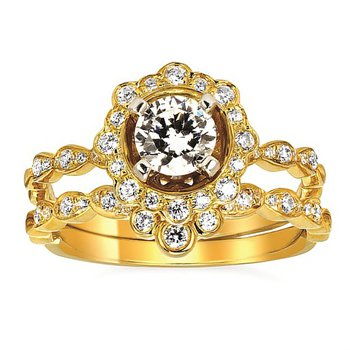 1/8ct tw Diamond Wedding Ring in 14K Yellow Gold